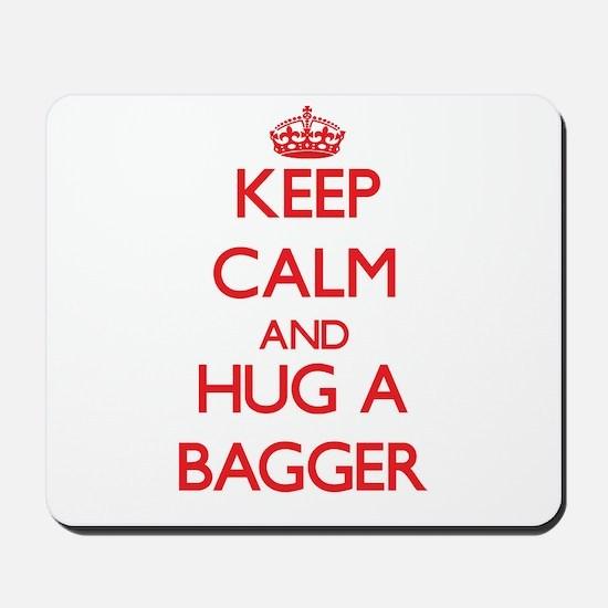 Keep Calm and Hug a Bagger Mousepad