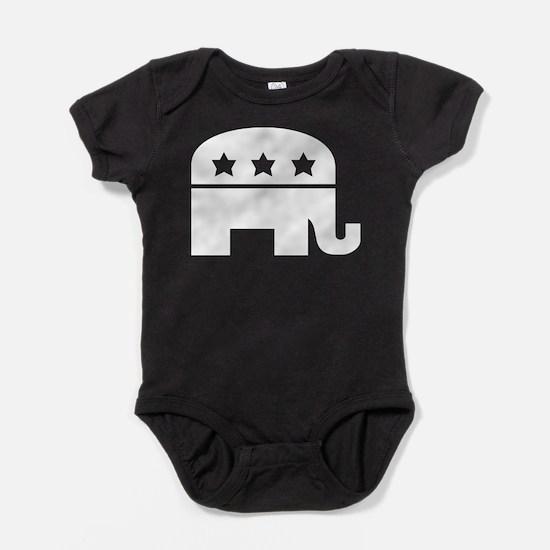 Republican Elephant White Baby Bodysuit