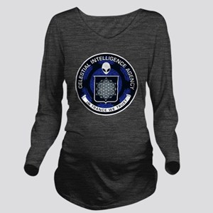 Celestial Intelligen Long Sleeve Maternity T-Shirt