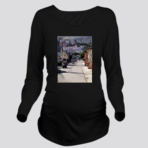 Coming Through Long Sleeve Maternity T-Shirt