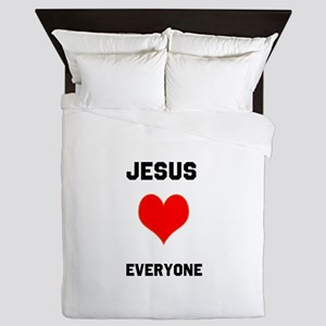Jesus Loves Everyone Queen Duvet
