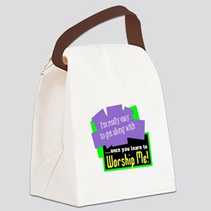 Worship Me Canvas Lunch Bag
