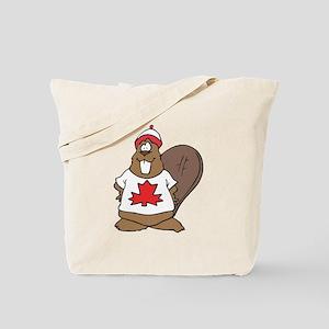 Goofy Canadian Beaver in Shirt Tote Bag
