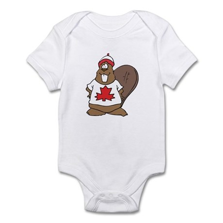 Goofy Canadian Beaver in Shirt Infant Bodysuit