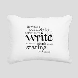 How Can I Write? Rectangular Canvas Pillow