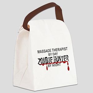 Zombie Hunter - Massage Therapist Canvas Lunch Bag