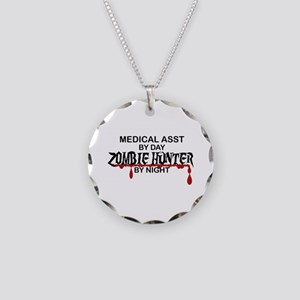 Zombie Hunter - Medical Asst Necklace Circle Charm