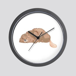 Sleeping Beaver Wall Clock