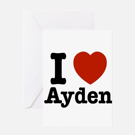 I love Ayden Greeting Card