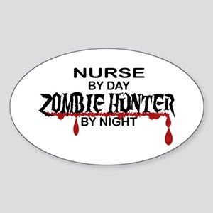 Zombie Hunter - Nurse Sticker (Oval)