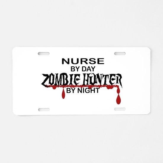 Zombie Hunter - Nurse Aluminum License Plate