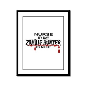 Zombie Hunter - Nurse Framed Panel Print