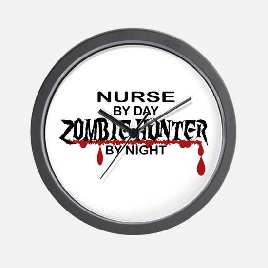 Zombie Hunter - Nurse Wall Clock