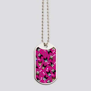 Boston Terrier Cute Mustache Funny Faces Dog Tags
