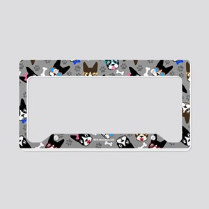 cute boston terrier dog License Plate Holder