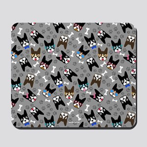 cute boston terrier dog Mousepad