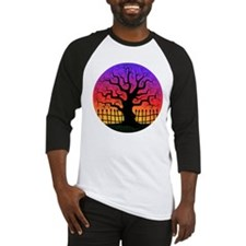 Halloween Spooky Tree at Sunset Baseball Jersey