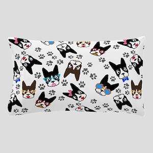 cute boston terrier dog Pillow Case