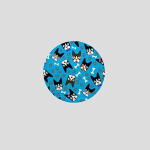 cute boston terrier dog Mini Button