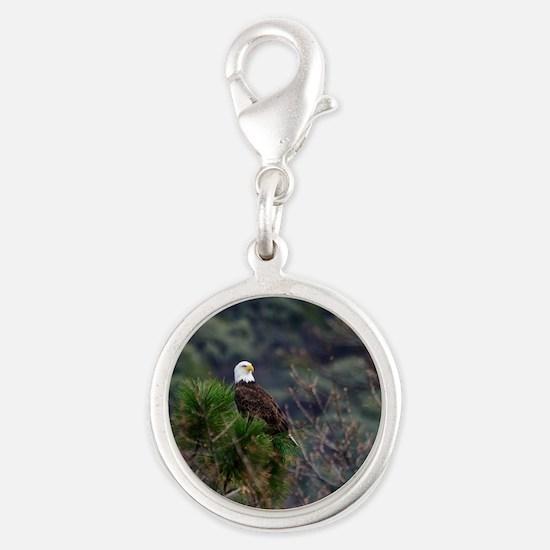 Bald Eagle on a Pine Tree Charms