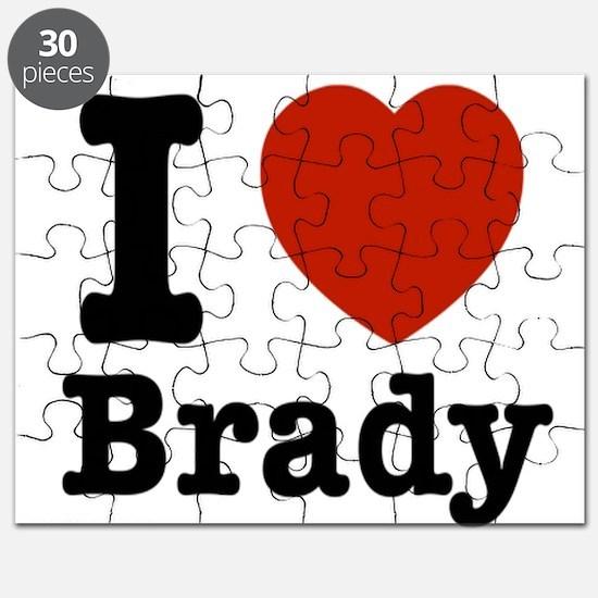 I love Brady Puzzle