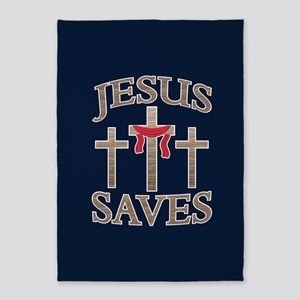 Jesus Saves 5'x7'Area Rug