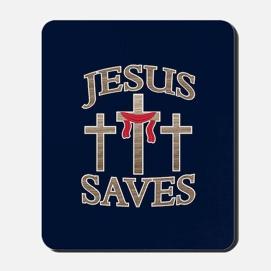 Jesus Saves Mousepad