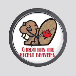 Canada Nicest Beavers Wall Clock