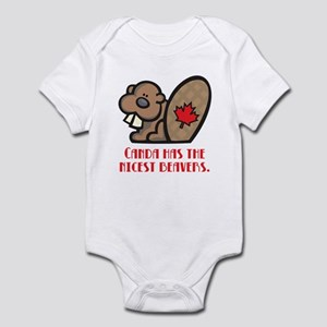 Canada Nicest Beavers Infant Bodysuit