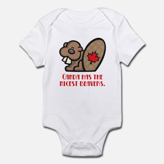 Canada Nicest Beavers Infant Bodysuit