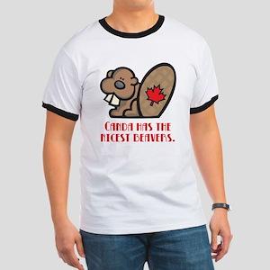 Canada Nicest Beavers Ringer T
