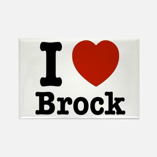 I love Brock Rectangle Magnet