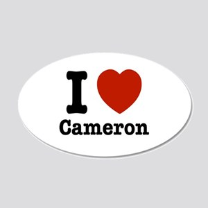 I love Cameron 20x12 Oval Wall Decal