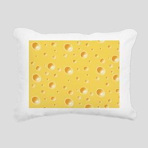 Swiss Cheese texture Rectangular Canvas Pillow