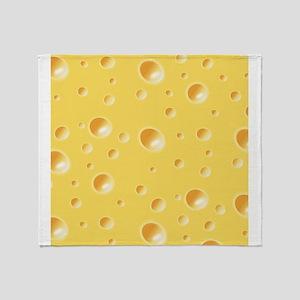 Yellow Cheese Throw Blanket