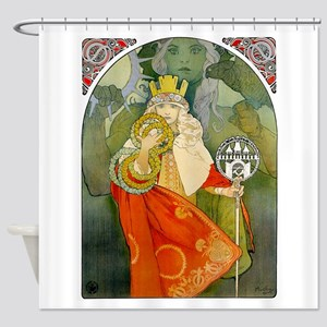 6Th Sokol Festival 1912 By Mucha - Shower Curtain