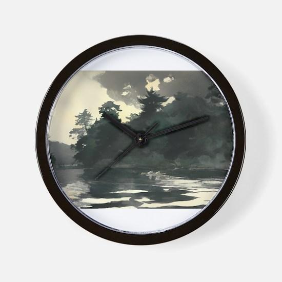 Vintage Rowing Painting Wall Clock