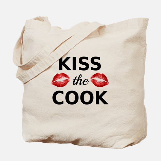 Kiss the cook with red lips Tote Bag