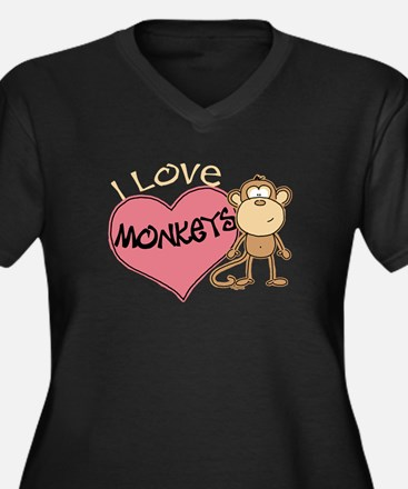 I Love Monkeys Plus Size T-Shirt