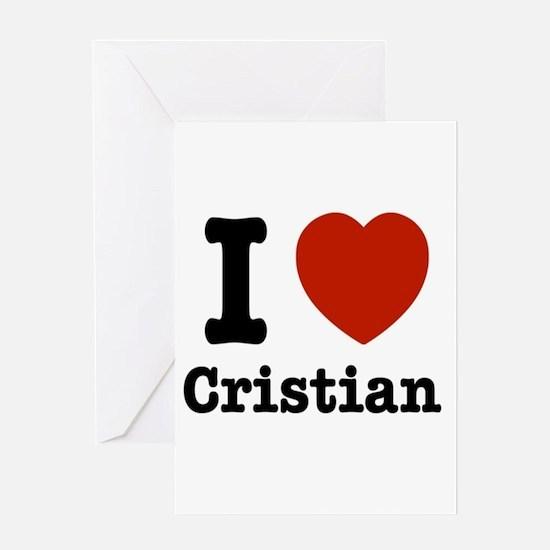 I love Cristian Greeting Card