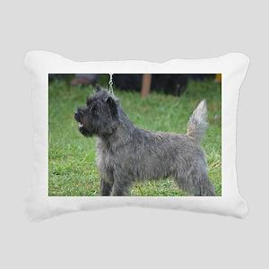 Cute Black Cairn Terrier Rectangular Canvas Pillow