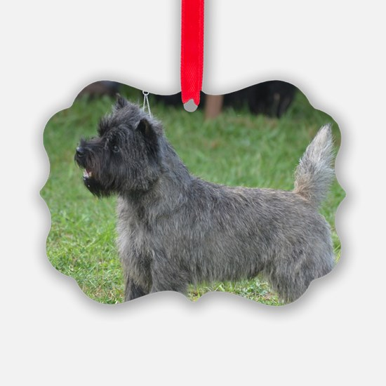 Cute Black Cairn Terrier Ornament