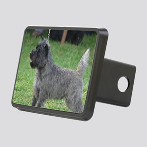 Cute Black Cairn Terrier Rectangular Hitch Cover
