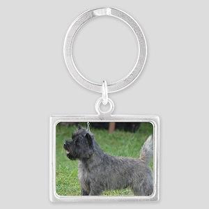 Cute Black Cairn Terrier Landscape Keychain