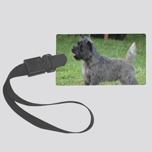 Cute Black Cairn Terrier Large Luggage Tag