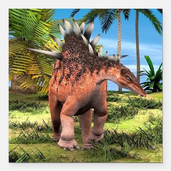"""Dinosaur Kentrosaurus Square Car Magnet 3"""" x 3"""""""
