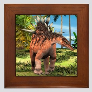 Dinosaur Kentrosaurus Framed Tile