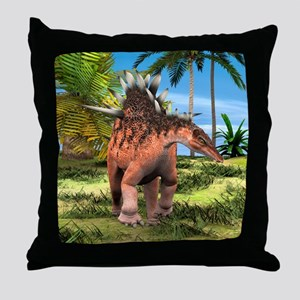 Dinosaur Kentrosaurus Throw Pillow