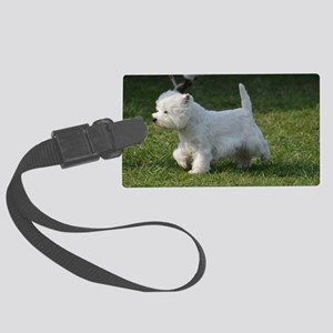 Cute West Highland White Terrier Large Luggage Tag