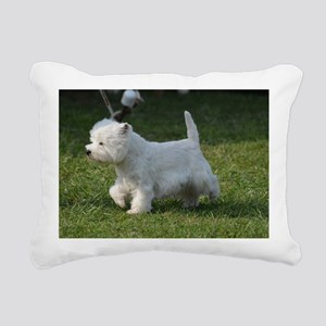 Cute West Highland White Rectangular Canvas Pillow